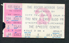Original Rocky Horror Show 1980 Live Production Concert Ticket Stub O'keefe