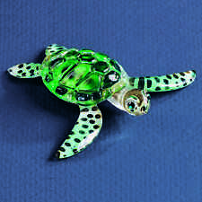 Glass Baron ~ Green Sea Turtle ~ Blue Crystal Eyes ~ New in Box