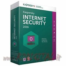 ANTIVIRUS KASPERSKY INTERNET SECURITY 2017 LICENZA COMPUTER 3PC NOTEBOOK NETBOOK