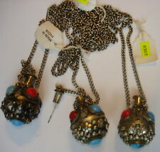 """12 Vintage Handmade in India Perfume Bottle 32"""" Necklaces ~ Made in the 1970's ~"""