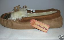 Mudd Moccasin Slippers Faux Fur Lined Decorative Toe Size Med 7-8 NWT $30