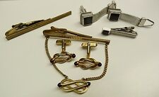 VTG 2 SETS OF CUFFLINKS+ 3 TIE CLIPS: SWANK, HICKOK USA, USN APPROVED-01007 D12