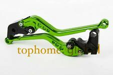 Long Green CNC Clutch Brake Levers For KAWASAKI Z1000SX / NINJA1000 2011-2016