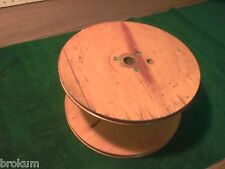 "Large Old Wood Industrial Textile Spool from Weaving Mill - 10"" Diam X 6"" Tall"