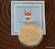 """Österreich, 100 Schilling 1995 """"Millennium-Serie Erste Republik"""" PP/Proof"""