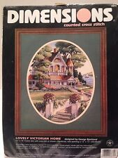 "Dimensions Counted Cross Stitch #3874 ""Lovely Victorian Home"" NIP"