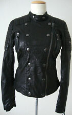 REPLAY Damen Jacke Leather Jacket Lederjacke Bikerstyle Gr.S NEU mit ETIKETT