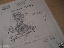Fiat 1300, Solex 28 - 32 PAIA/1 - 1 Vergaserplan