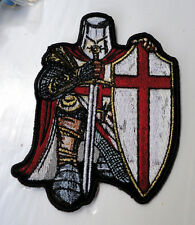 P4 Christian Knights Templar Iron on Patch Biker Crusade Sword Shield