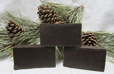 "PINE TAR SOAP W/SILVER SOL ""MADE THE OLDWAY"" 3 BARS $13.95"