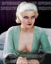 JEAN HARLOW IN SEXY LOW CUT DRESS 8X10 BEAUTIFUL COLOR PHOTO BY CHIP SPRINGER