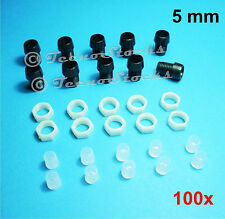 100x Portaled ABS Nero per LED 5 mm - Black Plastic Led Holder