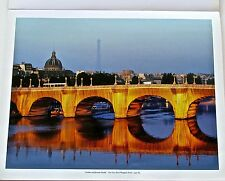 Christo & Jean Claude Poster of The Pont Neuf Wrapped  Paris Project 14x11