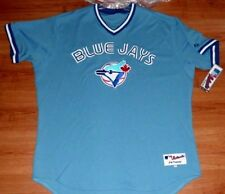 Toronto Blue Jays Authentic Jersey 60 Throwback Retro Blue Majestic MLB