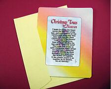 """""""Christmas Trees In Heaven"""" Poem - Keepsake Enclosed Verse Card - Sku# 707"""