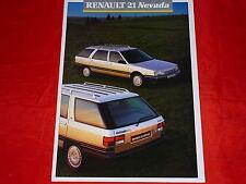 Renault 21 Nevada tl GTS GTX GTD turbo D socialisation familiale prospectus + liste de prix 1987