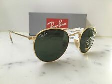 NEW Rayban Round Metal RB3447 Col 001  Size 50/21  Womens Gold Round Sunglasses