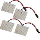 4 Pcs Universal Micro Panel 24 SMD Car LED Light Auto Interior White Bulbs Lamp