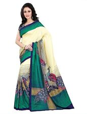 Latest Indian Wedding Sari Designer Art Silk Party wear Saree with Blouse aa1