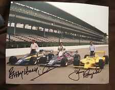 Rutherford Andretti Unser Signed Indy 500 Front Row 8 X 10 Photo Autographe 1980