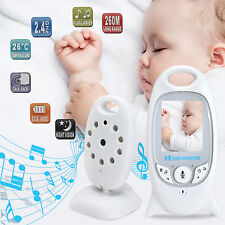 2.4GHz Wireless Digital LCD Baby Monitor Audio Video Night Vision Camera White