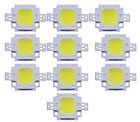 10X 10W Cool White LED Chips High Power  Flood light Lamp SMD Chip DC 9-12V Hot