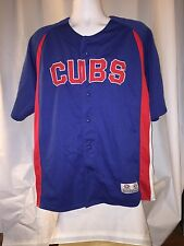 Cubs Jersey Button Front  Embroidered Large 42/44