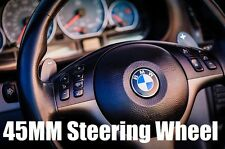 45MM Steering Wheel Sticker Badge Decal Emblem Logo For BMW E90 E82 F30 E46 E70