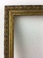 10x13 Antique Art Deco Picture Frame Textured Wood w Orig Gold Finish & Glass