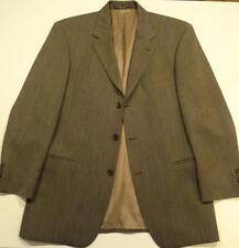 Men's Hugo Boss 100% Wool Brown Pinpoint Jacket / Blazer Size 42 R in EUC
