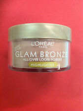 L'OREAL GLAM BRONZE ALL OVER LOOSE POWDER HIGHLIGHTER ROSE DUSK NEW.