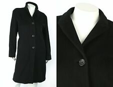 JIL SANDER BLACK 100% CASHMERE LONG COAT SZ 42