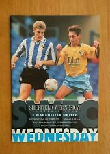 1991/92 SHEFFIELD WEDNESDAY v MANCHESTER UNITED - EXCELLENT CONDITION