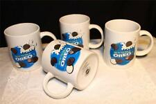 OREO MUG COFFEE TEA MILK HOW DO YOU EAT AN OREO SET OF 4 DUNK LICK TWIST BITE !!
