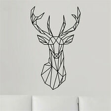 Removable Decoration Deer Head Vinyl Wall Paper Home Decor Art Wall Sticker