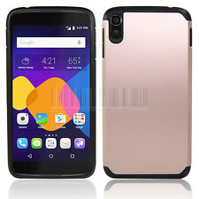 """For 5.5"""" Alcatel One Touch Idol 3 Hybrid Armor Case Hard Impact Protective Cover"""