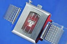 Vintage NOS Hudson Instalite salto de hora digital Reloj 1970s reparado 17 Jeweled