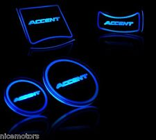 LED Cup Holder Plate SET For Hyundai Accent Solaris 2011 2012 2013 2014