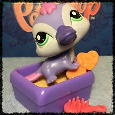 Littlest Pet Shop LPS #2528 Purple Platypus w/ Green Eyes & Accessories