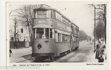 Trams at Purely in 1951, Surrey Pamlin Postcard, B456