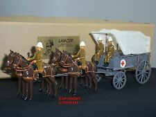 LANCER Field Service Order Ambulanza CARRO + Crew METAL Toy Soldier Figure Set