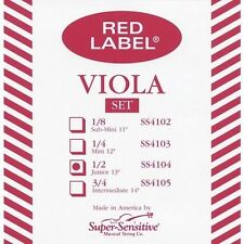 "Super Sensitive Red Label Junior 13"" Viola String Set"