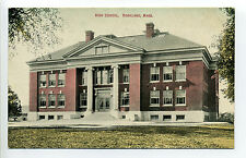 Rockland MA Mass 1910 High School, Chatty Message, crisp image