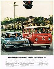 Vintage 1969 Magazine Ad Volkswagen Is Short High & Quite Ugly But Big Economy