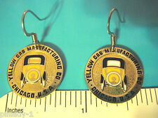 Yellow Cab Manufacturing Co.  logo - earrings , ear rings  GIFT BOXED