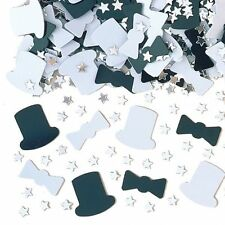 Casino Party New Year Black White Top Hat Mix Metallic Confetti Decoration993011