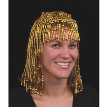 Gold Egyptian Headpiece Beaded Cleopatra