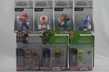 World Of Nintendo Lot Of 7 Figures Jakks 2 Inch Tom Toad Mario Link Deku Kong
