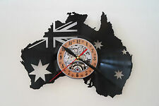 Australia design vinyl record wall clock bedroom playroom office home art shop
