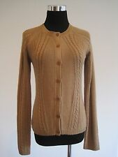Calvin Klein Silk Cashmere Button Up Cardigan Sweater Camel Tan Meedium M